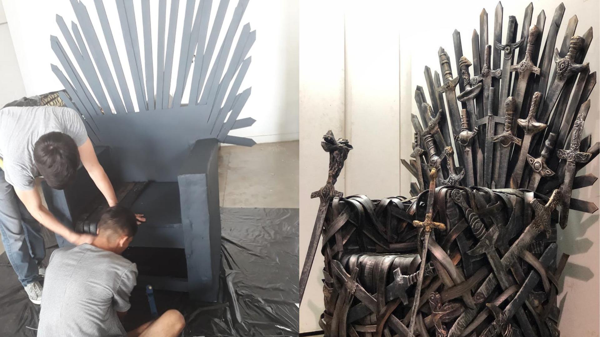 Estudantes Fazem Reproducao De Papelao De Trono De Game Of Thrones